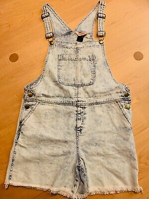 Girls Missie Munster Denim Overalls Size 14