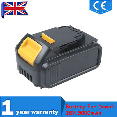 18Volt Li-Ion 18V 5.0Ah Battery For Dewalt DCB184 DCB182 XR Lithium-Ion Slide UK