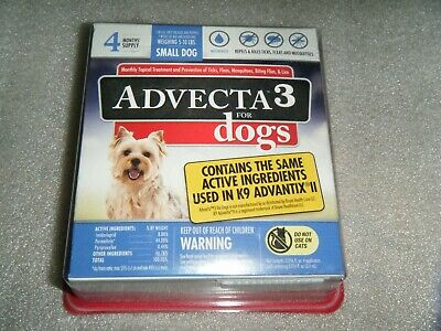 Advecta 3 Flea and Tick Treatment for Small Dogs - 4 Month Supply