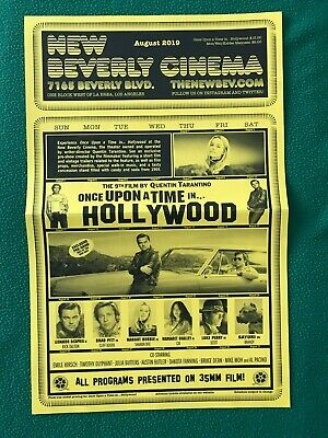 Once Upon in a Time in Hollywood Tarantino New Beverly Cinema Film Calendar
