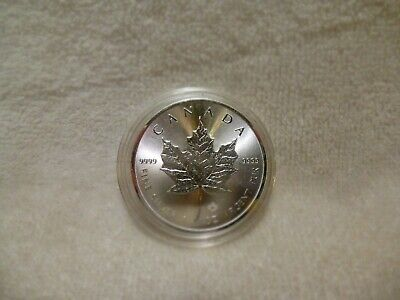 2019 Canadian One Ounce Silver Maple Leaf .9999 Fine In Airtite Capsule