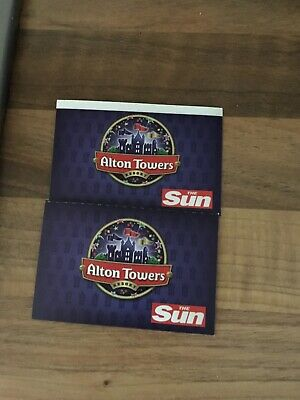 2 Alton Towers Tickets For Thursday 12th September 2019 12/9/19