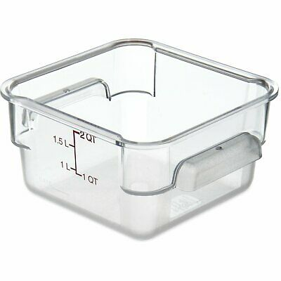 Square Container 2 Qt Pc Clear (6 Pack) Carlisle|