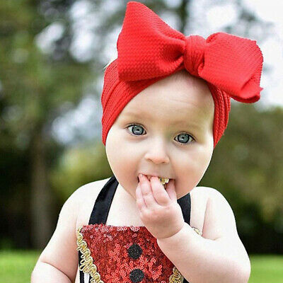Kid Baby Girls  Headband Toddler Big Bow Headwrap Hair Bands Headwear Top Knot