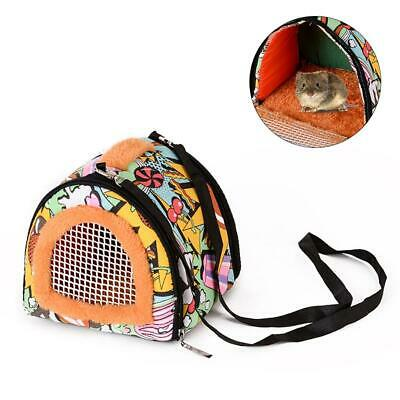 Hamsters, Guinea Pigs, Breathable Portable 2 Doors Pet Carrier Shoulder Bag Tote