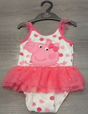 Mothercare Baby Girls Peppa Pig Swimsuit New With Tags Size 12-18 Months