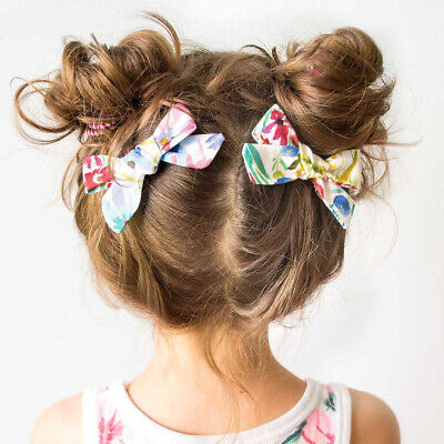 Kids Girls Hair Clips Cotton Hairpins Bow Knots Hair Barrettes Baby