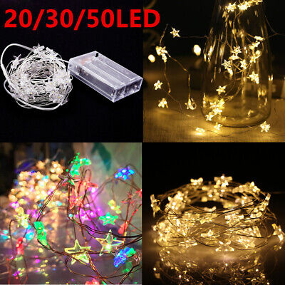20 30 50 LED Star Lights Battery Fairy String Micro Indoor Outdoor Wedding Party
