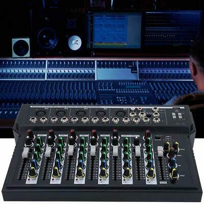 Professional 7 Channel Line Live Mixing Studio Audio Sound Mixer Console USB MP3