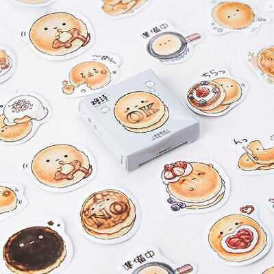 45pcs/lot DIY Cute Kawaii Round Bread Sticker Diary Scrapb Journal S0X5 Sti H2N3