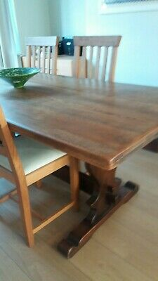Solid Oak Old French Large Rustic Farmhouse Dining table