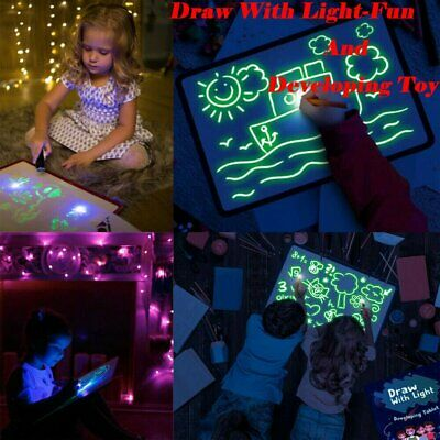 Draw With Light Fun And Developing Toy Drawing LED Board Magic Draw Educational