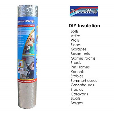 ThermaWrap 1500mm x 7.5m x 3.8mm Insulating Wrap Easy Install Bubble Foil Ideal