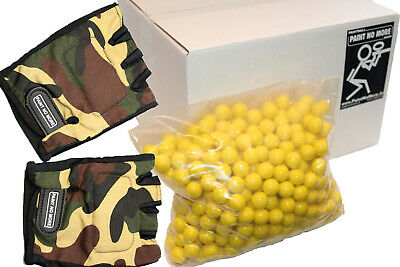 White Box 500 Paintballs Cal 68 inkl Handschuhe Paintball Magfed PaintNoMore