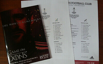 Programme - Aberdeen v HNK Rijeka 15/08/2019 - with 2 teamsheets
