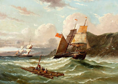 ZWPT436 100% hand-painted ocean seascape sail boat art oil painting on canvas