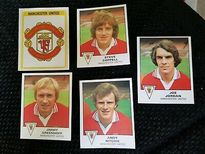 Panini Football 80 - Manchester United - x17 stickers - complete team set