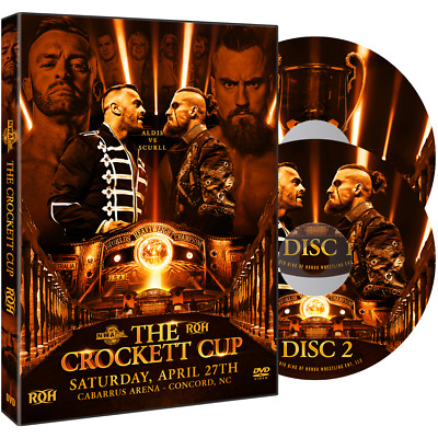Official ROH Ring of Honor / NWA - Crockett Cup 2019 Event 2 Disc DVD Set