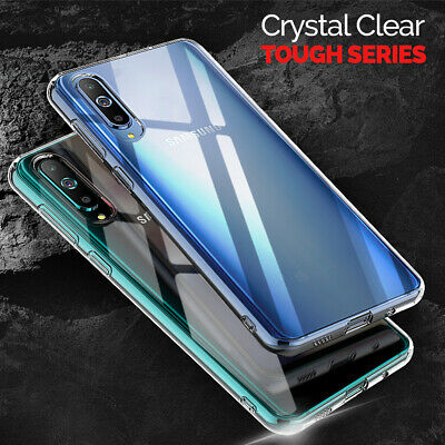 CLEAR Case For Samsung Galaxy A70 A50 A40 Cover Shockproof Silicone Gel TOUGH