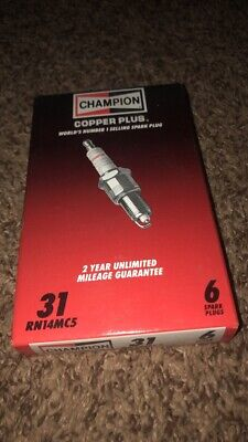 Champion Spark Plugs Box of 6,  RN14MC5,  Copper Plus NEW OLD STOCK