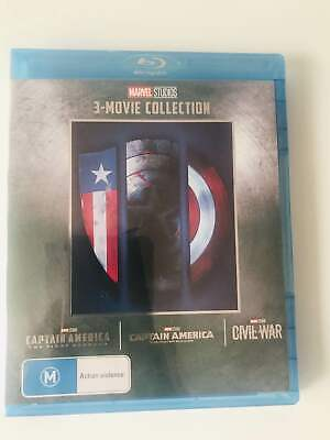 CAPTAIN AMERICA 1-3 Movie Collection [Blu-ray] Marvel Trilogy 1 2 3 Set New!!