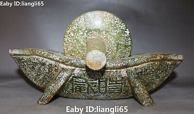 China alte Jade Carving Word Text Zeichen Crusher Medicine Roller Statue