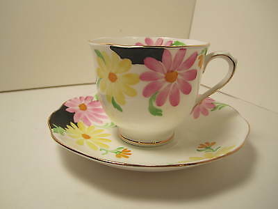 Royal Albert Crown China Cup&Saucer  White With Pretty Floral Pattern Gold Trim!