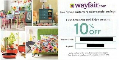 Wayfair Coupon: 10% Off Entire First Purchase Online, Expires 09/15/2019