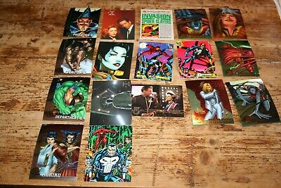 collecters cards mixed lot x-men & spiderman etc