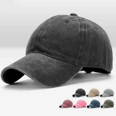 Blank Adjustable Style Baseball Plain Hat Cotton Men Cap Casual Solid Washed