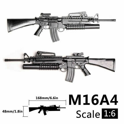 1/6 Scale M16A4 Toy Gun Assemble Model Puzzles Building Bricks Gun Rifle Gun