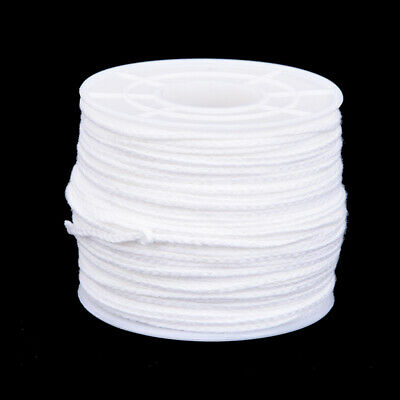 61m x 2.5mm Spool of Cotton Square Braid Candle Wicks Core For Candle Making XM