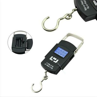 50kg Portable LCD Digital Electronic Hook Hanging Luggage Scale Weight Balance