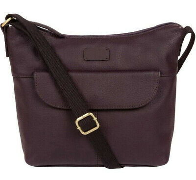 60% Off Small Purple Leather Cross Body Shoulder Bag