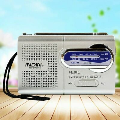 Portable  AM/FM Radio Pocket Mini Size Antenna  Telescopic  World  Receiver