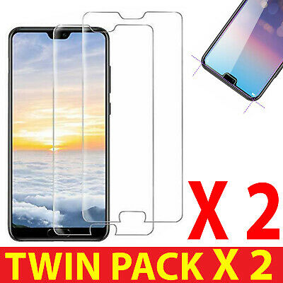 2X PACK FOR HUAWEI P20 Lite PREMIUM GORILLA-TEMPERED GLASS FILM SCREEN PROTECTOR