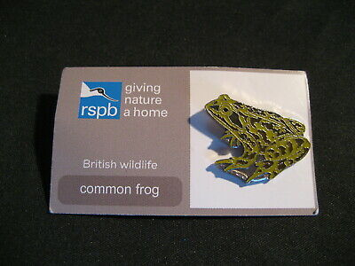 Rspb Common Frog Pin Badge Giving Nature A Home British Wildlife (Grey Card)