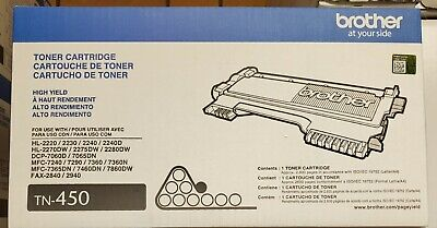 Brother TN-450 High Yield Toner Cartridge, Brand New!