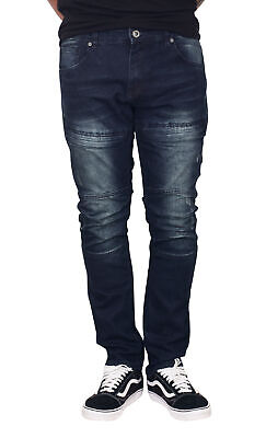 TRILLNATION Slim Fit Stretch Jeans with Front Zip Pockets