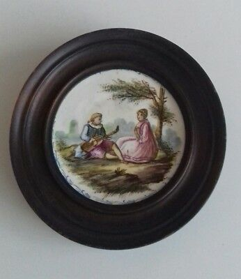 Rare Antique 18th Century French Faience Wall Plaque. Lille 1765. Hand Painted