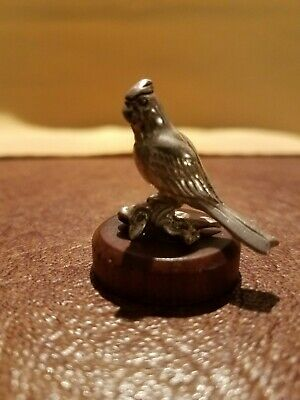 Vintage Kirk Stieff Sterling Silver Miniature Cardinal on base. 1985