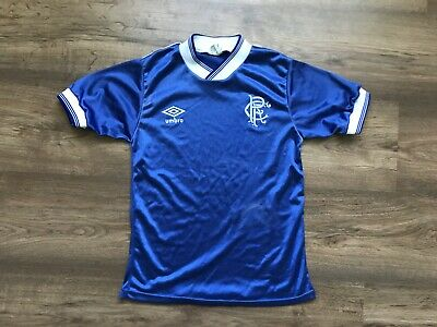 Vintage Glasgow Rangers 1984/1985 Home Football Shirt Soccer Jersey Umbro