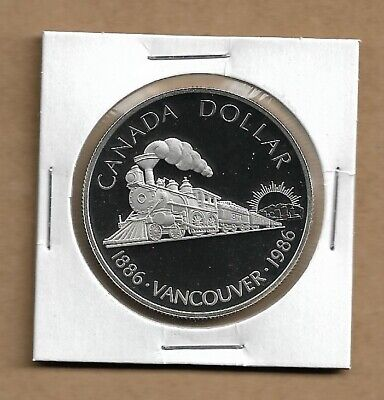 1986 Canada Silver Dollar from Double Dollar Set 50% Silver