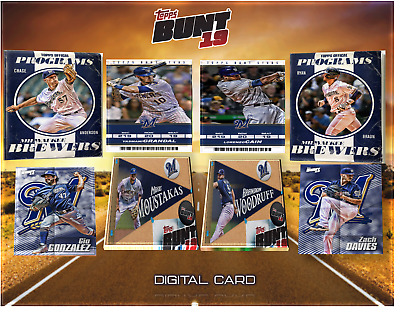 2019 ROAD TRIP STOP #17 MILWAUKEE BASE SET OF 8 CARDS Topps Bunt Digital Card