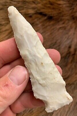 "3.3/4"" Archaic Etley Found By Ben McGhee St Charles Co MO Authentic Relic N78"