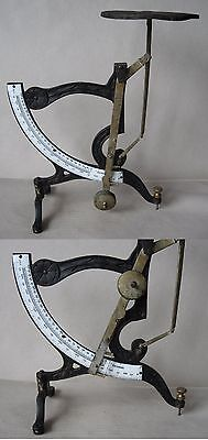 ANTIQUE GERMAN TABLE LEVER POSTAL LETTER SCALES BALANCE / 1000 g