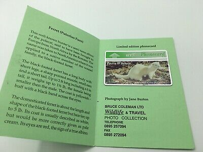 Fauna Of Britain Ferret Limited Edition Bt Phonecard