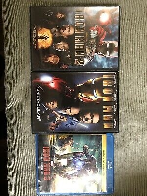 Iron Man 1, 2, and 3 DVD (Complete Trilogy)