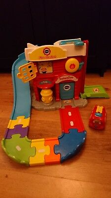 Vtech Toot Toot fire station set interactive role play children's car track toy