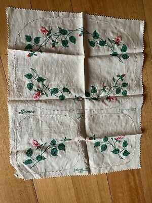 Semco Design 645 3 Piece antique doilies To Be Completed